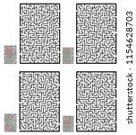 set of labyrinths  mazes...   Shutterstock .eps vector #1154628703