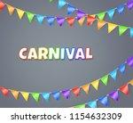 carnival. vector background... | Shutterstock .eps vector #1154632309