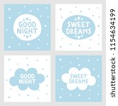 sweet dreams and good night... | Shutterstock .eps vector #1154634199