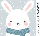Cute Rabbit Winter Theme Card ...