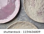 decorative clay plates covered... | Shutterstock . vector #1154636809