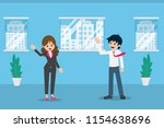 salary man 01 are greeting... | Shutterstock .eps vector #1154638696