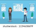 salary man 01 are greeting... | Shutterstock .eps vector #1154638699