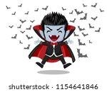 Halloween Cartoon. Dracula...