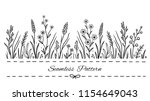 hand drawn seamless floral... | Shutterstock .eps vector #1154649043
