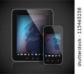 realistic vector tablet...   Shutterstock .eps vector #115465258