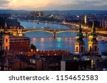 panoramic view of budapest in... | Shutterstock . vector #1154652583