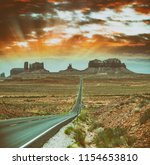 road to monument valley ... | Shutterstock . vector #1154653810