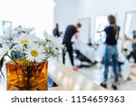 haircut saloon on background....   Shutterstock . vector #1154659363