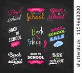 set of welcome back to school... | Shutterstock .eps vector #1154663200