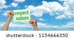 take notice respect nature  ...   Shutterstock . vector #1154666350