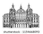 vector sketch of  antwerp main...   Shutterstock .eps vector #1154668093