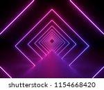3d render  ultraviolet neon... | Shutterstock . vector #1154668420