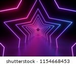 3d render  ultraviolet neon... | Shutterstock . vector #1154668453