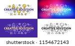 creative solution. flat line... | Shutterstock .eps vector #1154672143
