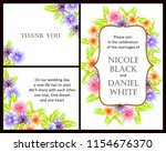 romantic wedding invitation... | Shutterstock . vector #1154676370
