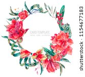 vector floral template card of... | Shutterstock .eps vector #1154677183