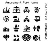 amusement park   festival icon... | Shutterstock .eps vector #1154678140