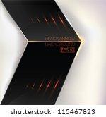 black technological arrow... | Shutterstock .eps vector #115467823