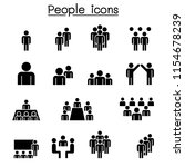 people icon set  | Shutterstock .eps vector #1154678239