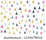 gold firs landscape for... | Shutterstock .eps vector #1154678410