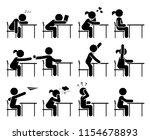 school days. school children.... | Shutterstock .eps vector #1154678893