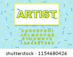 vector of modern bold font and... | Shutterstock .eps vector #1154680426
