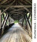 austrian old wooden bridge | Shutterstock . vector #1154680633