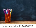 back to school concept  colored ... | Shutterstock . vector #1154680696
