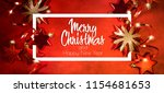 christmas and new year holidays ... | Shutterstock . vector #1154681653