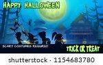 halloween poster with...   Shutterstock .eps vector #1154683780