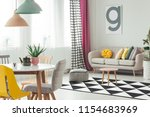 real photo of a creative living ... | Shutterstock . vector #1154683969
