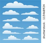 vector design set of clouds in... | Shutterstock .eps vector #115468924