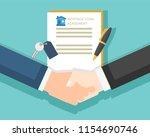 the businessmen are shake hand... | Shutterstock .eps vector #1154690746