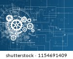 abstract technology background. ... | Shutterstock .eps vector #1154691409