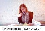 young pretty blonde girl...   Shutterstock . vector #1154691589