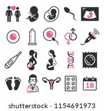 pregnant icons set. vector... | Shutterstock .eps vector #1154691973