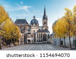 huge gothic cathedral in aachen ... | Shutterstock . vector #1154694070