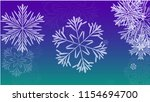 beautiful christmas background... | Shutterstock .eps vector #1154694700
