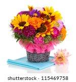 beautiful bouquet of bright... | Shutterstock . vector #115469758