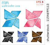 modx watercolor icon set.... | Shutterstock .eps vector #1154699113