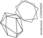 vector geometric form. isolated ...   Shutterstock .eps vector #1154699839