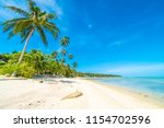 beautiful tropical beach sea... | Shutterstock . vector #1154702596