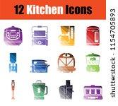set of kitchen icons. gradient...   Shutterstock .eps vector #1154705893