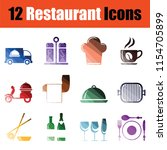 set of restaurant icons.... | Shutterstock .eps vector #1154705899