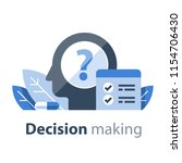 decision making  cognitive test ... | Shutterstock .eps vector #1154706430