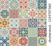portuguese color tiles azulejos.... | Shutterstock . vector #1154707360