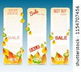 business natural seasonal... | Shutterstock .eps vector #1154707456