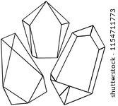 vector diamond rock jewelry...   Shutterstock .eps vector #1154711773