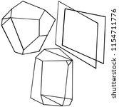 vector diamond rock jewelry...   Shutterstock .eps vector #1154711776